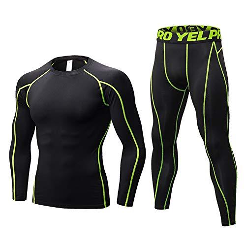 Minghe - Conjunto de ropa interior térmica para hombre (2...