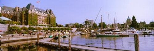 Posterazzi PPI147373S Buildings at the waterfront Empress Hotel Inner Harbor Victoria Vancouver Island British Columbia Canada Poster Print 18 x 6