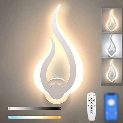 Lightess Smart LED Wandleuchte Dimmbar mit Fernbedienung 2.4G Dimmbare Wandlampe Innen 2700K-6500K Wandlicht Up Down Beleuchtung für Kinderzimmer Wohnzimmer Schlafzimmer Flur Treppenhaus usw.