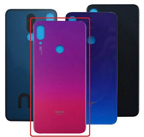 Desconocido Tapa Batería para Xiaomi Redmi Note 7, Note 7 Pro, M1901F7G, Cristal Trasero Cubierta Trasera (Rojo Nebulosa)