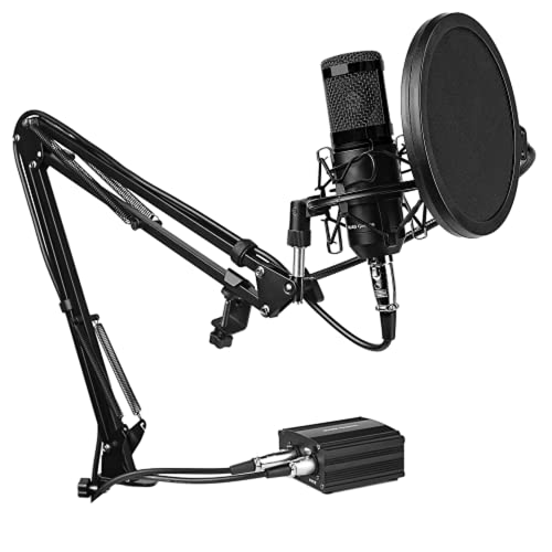 Mars Gaming MMICKIT, Micrófono Profesional + 6 Accesorios, Cable XLR...