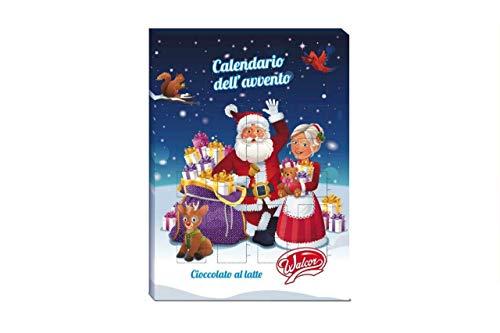 Calendario dell'avvento babbo natale 50gr natale con cioccolatini al latte