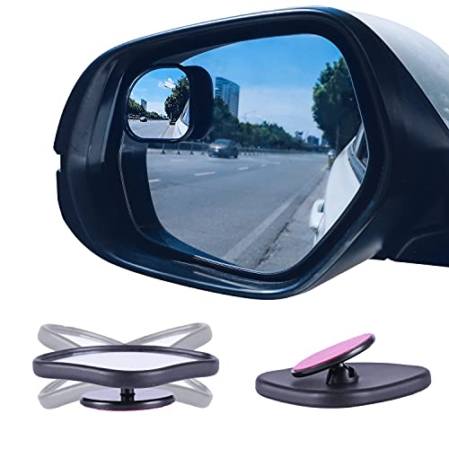 LivTee Framed Fan Blind Spot Mirror, HD Glass and Wide Angle Rearview Mirror...