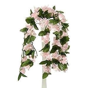 "26"" Hibiscus Pink Hanging Bush Silk Flowers Wedding Bouquets Centerpieces"
