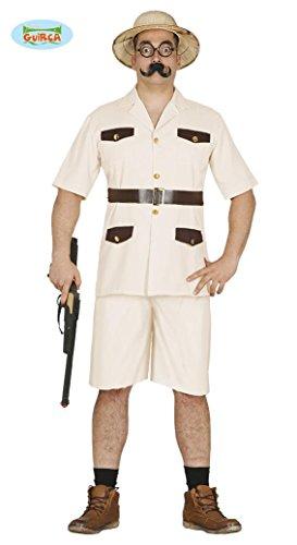 Guirca- Costume da Cacciatore Uomo Taglia L, Colore Beige, L, 84580