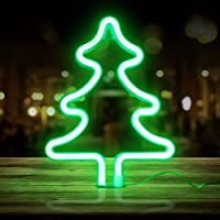 BSTEle イルミネーション ネオンサイン LEDライト ナイトライト 屋内装飾夜ランプ 睡眠灯 装飾ライト 雰囲気作り バレンタイン ホーム飾り付け 結婚式 パーティー クリスマス 誕生日ギフト 電池式&充電式(ツリー形)