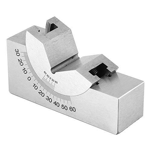 Calibre de ángulo, AP30 Acero inoxidable Micro ángulo de ángulo ajustable Fresado de bloques en V, Cepilladora para fresadora
