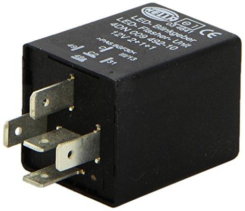 HELLA 4DN 009 492-101 Blinkgeber - 12V - 5-polig - gesteckt - LED - mit Halter