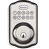 Keyless Entry Door Lock, HuTools Door Locks with Keypads, Electronic Deadbolt Lock with 20 User Codes, Auto Lock, 1 Time Code, 1 Button Locking, Satin Nickel
