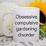 N\A Taza de café con Trastorno Obsesivo Compulsivo de jardinería, Maestro Jardinero, Taza de cerámica, té, Bebida, para el hogar y la Oficina, cumpleaños, Aniversario, Halloween