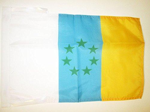 AZ FLAG Bandera de CANARIAS INDEPENDENTISTA 45x30cm - BANDERINA NACIONALISMO Canario - NACIONALISTA 30 x 45 cm cordeles