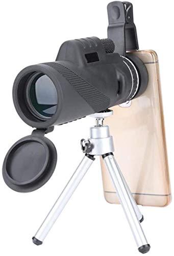 Telescopio monocular con trípode 40X60 Zoom HD Telescopio monocular con Soporte para teléfono Inteligente Ajustable para Acampar Observación de Aves Viajes Fútbol Partido