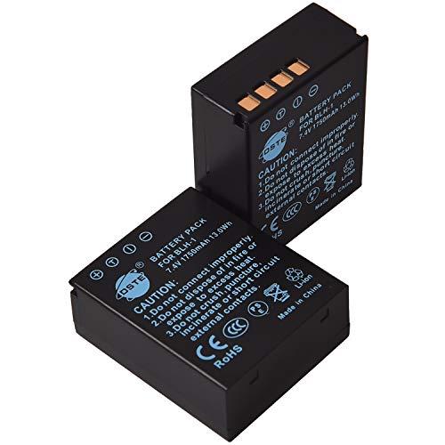 DSTE - Batería de repuesto para cámaras réflex digitales Olympus BLH-1 BLH1 EM1 E-M1 Mark II E-M1-2 OM-D E-M10 Mark IV (2 unidades)