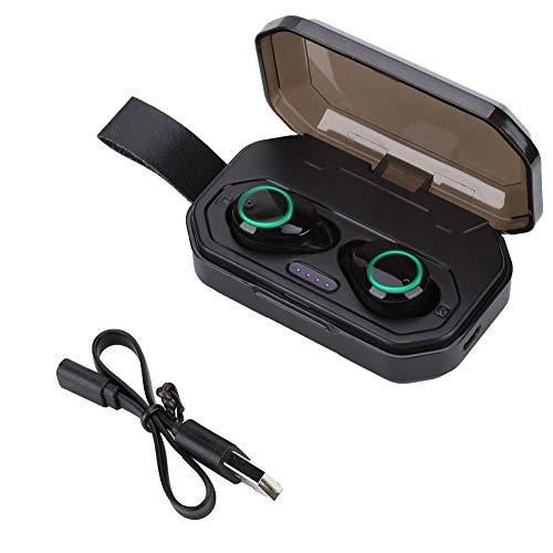 Draadloze Bluetooth 5.0-koptelefoon, Smart Touch Stereo-oordopjes IPX7 Waterdicht Dual-mode Bluetooth 5.0 Ergonomisch ontwerp Comfortabel, in-ear oordopjes 3000 mAh Grote capaciteit