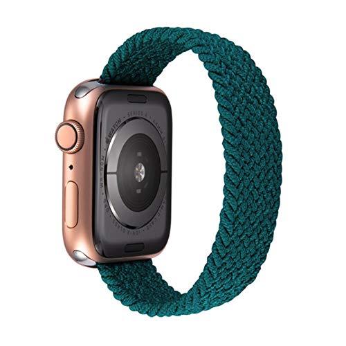 Correa elástica tejida de nailon a la moda para Apple Watch SE Band Series 6 5 4 3 Pulsera para iWatch 40mm 44mm 38 / 42mm Cinturón ligero