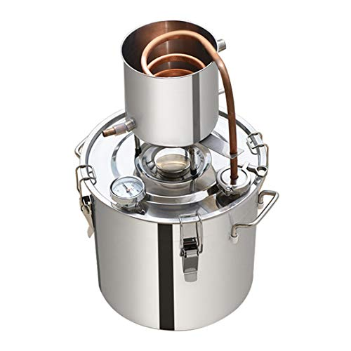 LTLWSH Kit De Destilación De para El Hogar Destilador De Acero Inoxidable para La Elaboración Casera De Vino, Alcohol, Cerveza O Destilación De Agua,50L
