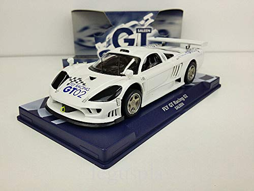 FLy Slot Car Scalextric 07021 Compatible Saleen GT Racing 02 Blanco 03