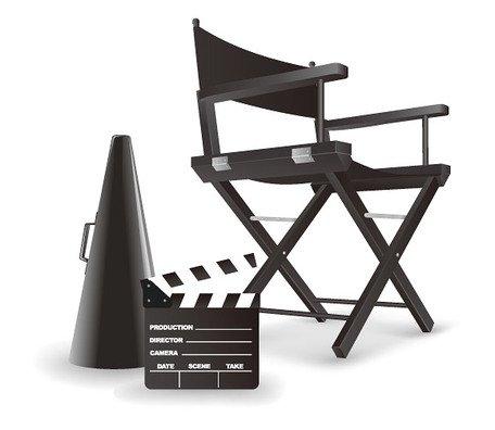 ZStyle Regiestuhl, klappbar, aus Holz, schwarz