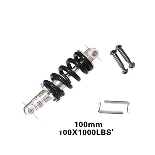 HomDSim Bicycle Mountain Bike Rear Suspension Spring Shock Absorber Black for MTB1000lbs (4.92inch=125mm)