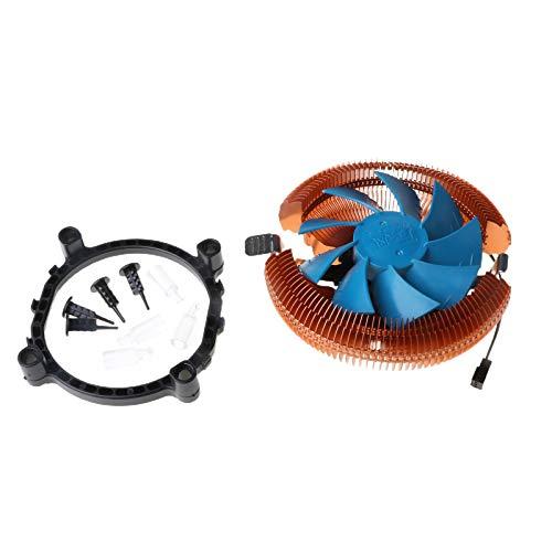 Qirun Control de temperatura Mute Cobre PC CPU Cooler Ventilador para AMD 754 Intel 775