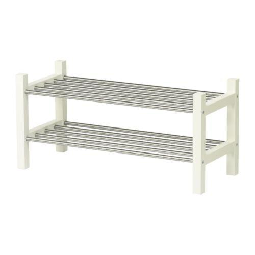 IKEA TJUSIG-Schuhregal, Weiß, 79 cm