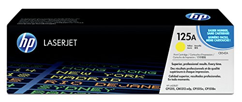 HP 125A (CB542A) Gelb Original Toner für HP Color Laserjet CP1215, CP1515, CM1312