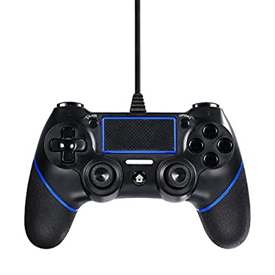 JAMSWALL Controller for PS4, Wired Controller for Playstation 4 Dual Vibration Shock Joystick Gamepad for PS4/PS4 Slim/PS4 Pro and PC(Windows 7/8 /XP) with 6.5ft Long USB Cable