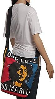21b51e39b6 One Love Buddha4all Noir Bob Marley Sac en coton Sac de courses épaule Sacs  à main