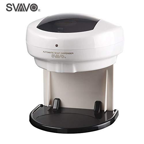Svavo Dispensador de jabón, Manos Libres, dispensador de jabón sin Contacto, dispensador de jabón automático para encimera, dispensador de loción Independiente para Cuarto de baño, Cocina, lavadero