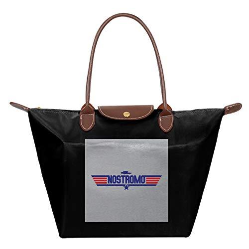Nostromo Topgun - Bolso de viaje plegable de piel con logotipo de...