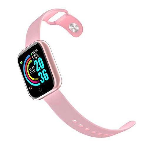 AIREQN Inteligente Reloj Inteligente Pulseras for Hombres, Mujeres, presión Arterial Aptitud Pulsera SmartBand for el iPhone Android Deportes Pista del sueño (Color : Pink)