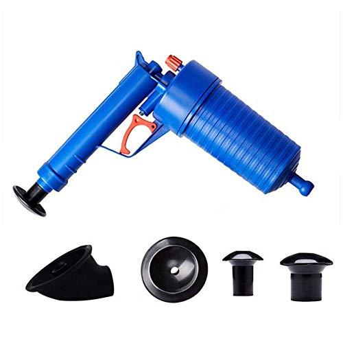 Air Power Drain Blaster Pistole Hochdruckstarke manuelle Spüle Plunger Opener Reiniger Pumpe Drainage Dredge Reinigungswerkzeug mit 4 verschiedenen Saugern Waschbecken & Badewannen Ablaufsiebe