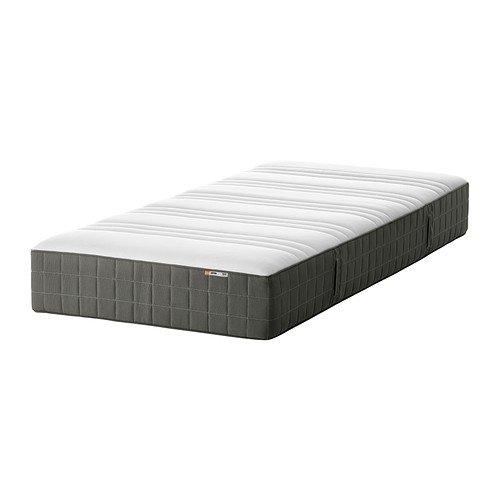 Ikea HOVAG - Materasso a molle insacchettate, solido, grigio scuro - 3' Singolo
