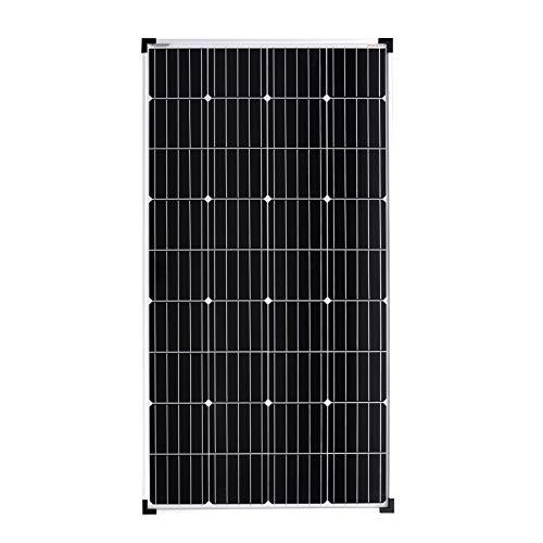 enjoysolar® hochwertiges Monokristallines Solarpanel Solarmodul ideal für Wohnmobil, Gartenhäuse, Boot (150W)