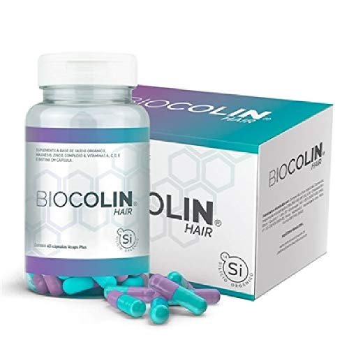 Biocolin Hair, 60 Cápsulas, Silício Orgânico, Central Nutrition