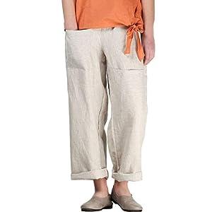 Women's Casual Cotton Linen Pant Unique Pockets