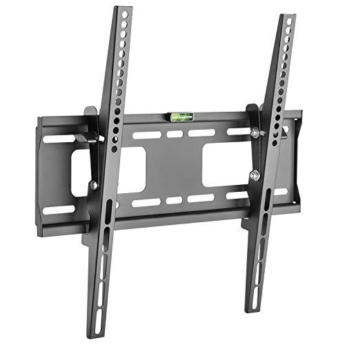 RICOO TV Fernseher-Wand-Halterung Flach Neigbar (N2344) Universal Fernsehhalterung für 32-55 Zoll (bis 50-Kg, Max-VESA 400x400) LCD OLED Curved Bildschirm