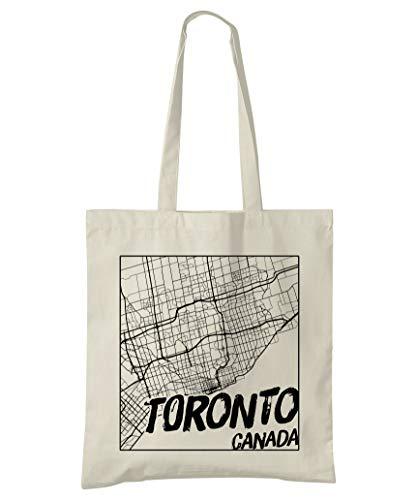Super Cool Totes Toronto Kanada, Stadtplan Einkaufstasche (Design 3)