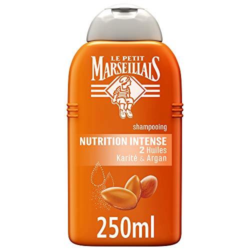 Le Petit Marseillais - Champú Nutrición Intensa con aceites de karité y argán para pelo muy seco y rizado, 250 ml, lote de 3 unidades