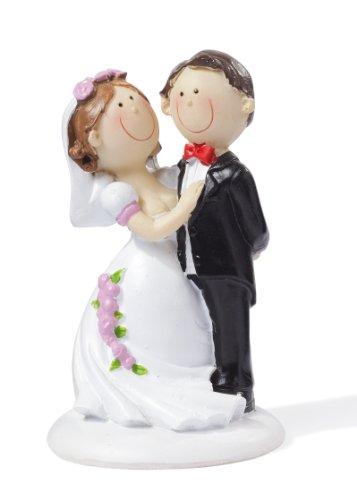 Hochzeitspaar * Brautpaar mit rosa Rosen am Kleid * Tortendekoration * Tortenfigur * Tischdekoration