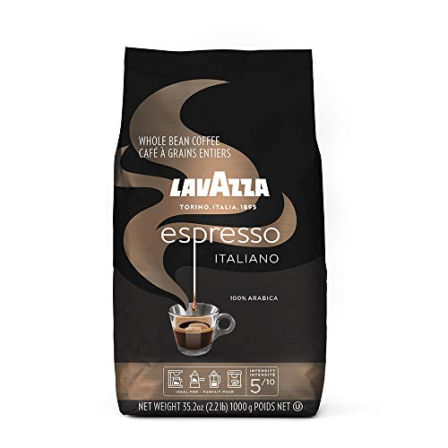 Lavazza Espresso Italiano Whole Bean Coffee Blend, Medium Roast, 2.2 Pound Bag (Packaging May Vary)