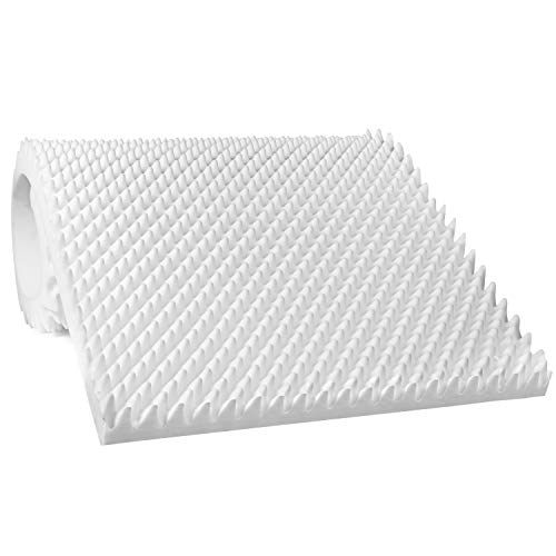 Egg Crate Mattress Topper, Ventilated, Convoluted Foam for Pressure Sores and Pain Relief, Medical Grade Urethane for Therapeutic Support and Recovery, Hospital Bed Twin (79