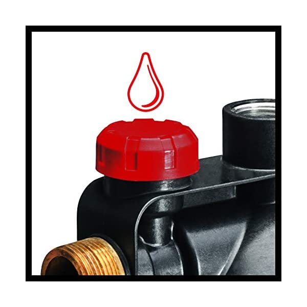 Einhell Sistema doméstico de agua GC-WW 1045 N (1050 W, 4500 L/h, diseño en acero inoxidable, 4.8 bar, interruptor de…