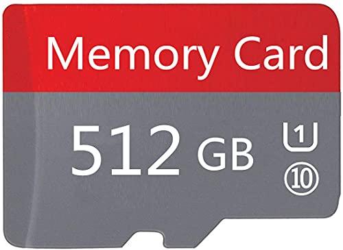 Tarjeta Micro SD de 512 GB SDXC de Clase 10 de Alta Velocidad con Adaptador SD Gratuito, diseñada para teléfonos Inteligentes, tabletas y Otros Dispositivos compatibles con Android (512 GB-GK)