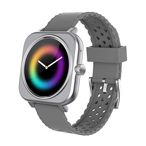 BNMY Smartwatch, Reloj Inteligente Impermeable IP67 para Hombre Mujer, Pulsera Actividad Inteligente con Pulsómetros, Monitor De Sueño, Podómetro Reloj Deportivo para Android iOS,Plata