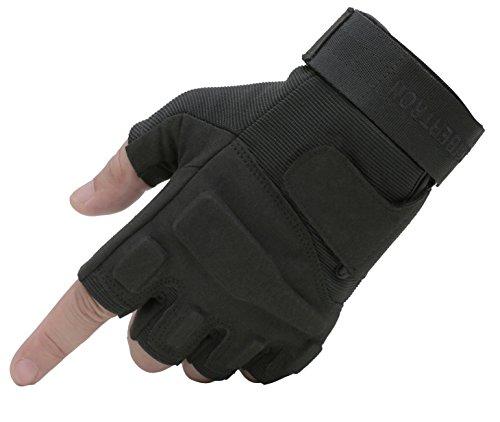 Seibertron S.O.L.A.G 1/2 Finger/Fingerless/Half Finger Multi-Function Sports Gloves Black S