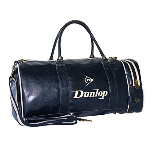 Dunlop Retro Gym Holdall Sports Weekend Barrel Shoulder Bag (Navy)