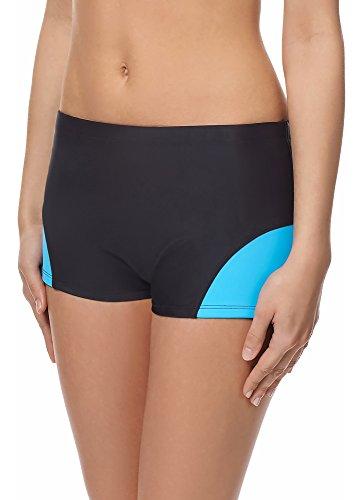 Merry Style Shorts Deportivos del Bikini Bañadores Ropa Mujer Modelo S1LL (Negro (9240)/Azul (6046), 38)