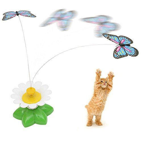 Interaktives elektrisches Spielzeug, drehender Schmetterling, Spielzeug für Katzen, zufällige Schmetterlingsjagd, Spielzeug für junge Katzen