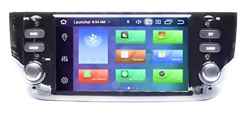 iuspirit ANDROID 10 GPS USB SD WI-FI Bluetooth MirroLink autoradio navigatore compatibile con Fiat Punto Evo/Street 2010, 2011, 2012, 2013, 2014, 2015